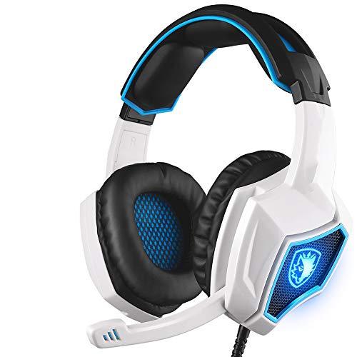 XIANG Auriculares, Auricular para Juegos con Cable Auriculares estéreo con Cable Deep Bass Gamer Auricular con el Mic para el LED PS4 Xbox One/Ordenador portátil Tablet PC