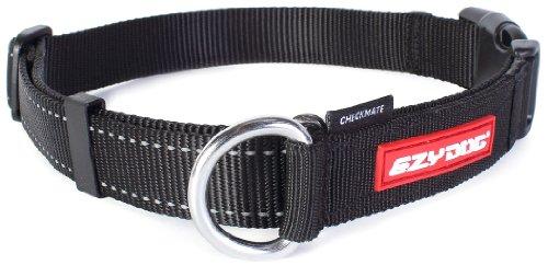 EzyDog Checkmate Hundehalsband - Halsband Hund - Zugstopp Halsband für Hunde - Zughalsband für hunde - Trainings und Dressurhalsband. Schlupfhalsband für Große, Mittlere und Kleine Hund (XL, Schwarz)