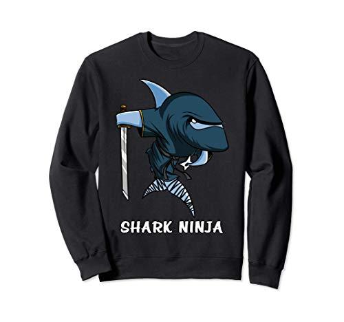 Tiburon Oceano Ninja Samurái Divertido Fantasía Niñas Niños Sudadera