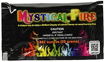 Mystical Fire Flame Colorant Long-Lasting Flame Color Changer 25 Gram Packets for Indoor or Outdoor Wood Burning Fires 50 Count Box Multi Color