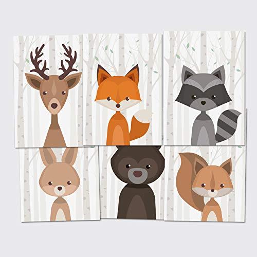 Postkarten-Set Waldtiere Grußkarten