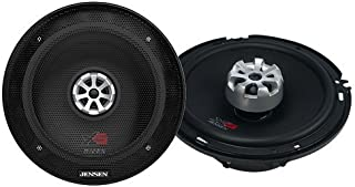 Jensen XS525 2-Way 5.25 inch High Performance Car Speakers with 240 Watt Peak Power and 1 inch Voice Coils with 20mm Silk ...