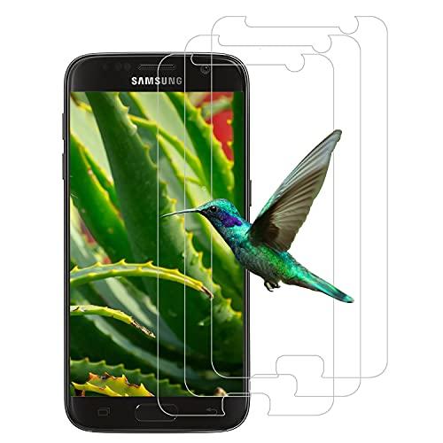 [3 Stück] Panzerglas Schutzfolie für Samsung Galaxy S7, 9H Härte, HD-Schutzfolie, Anti-Bläschen, Anti-Kratzer, Displayschutzfolie für Samsung Galaxy S7 - Transparent