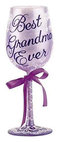 Best Grandma Ever Hand Painted Wine Glass