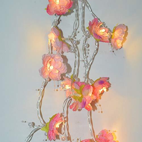 20 luces LED de flores de hadas de 6 pies con pilas, para decoración de bodas, fiestas, jardín, farmacia, luz nocturna