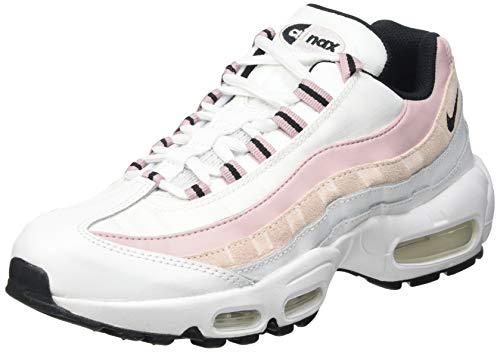Nike W Air MAX 95, Zapatillas para Correr Mujer, Summit White Black Champagne Orange Pearl, 35.5 EU