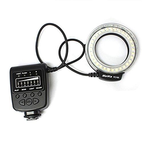 Meike LED Macro Anello Flash Light FC-100 per Canon Nikon Pentax Olympus DSLR Camera Camcorder con anelli adattatori