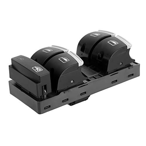 Qiilu Power Master Window Switch , Interruttore alzacristalli per auto elettrica Power Master Window Master Control Switch Interruttori a pulsante per auto Interruttori per Audi A3 A4 A6 S6 RS6 Q7 4F