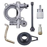 Fugift Kit de manguera de aceite de la bomba de aceite de gusano para HUSQVARNAE 365 371 372 XP 372XP 362 piezas de repuesto de motosierra accesorios prácticos