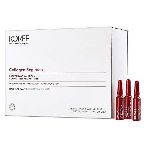 Korff Collagen Age Filler Fiale 28 Giorni, Antirughe Tonificanti con Collagene Marino e Acido Ialuronico, 28 fiale monodose