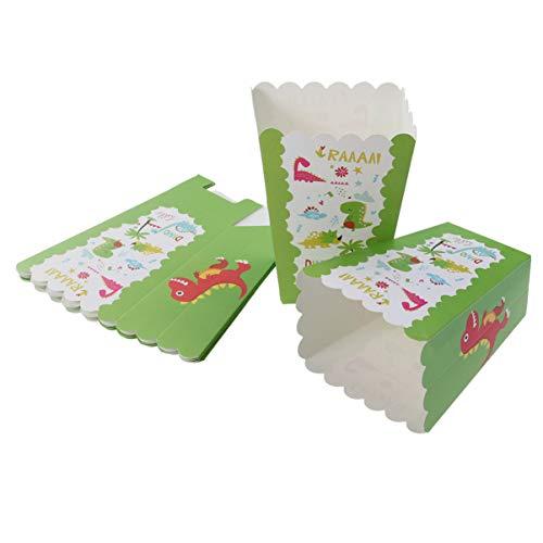 UPKOCH 6 Pezzi di Sacchetti di Popcorn Portarotolo di Carta con Motivo Dinosauro Rifornimenti per Feste per Banchetti Matrimonio Festa Compleanno Cinema