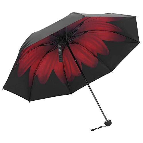 Möbel Liefert Modischer UV-Schutz UPF50 + Tragbarer, Faltbarer Sonnenschutz, Schwarzer Kleber, Innenschirm Mit Antirutschgriff Regenkleidung (Color : 1)