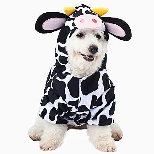 Spooktacular Creations Halloween Cow Pet Costume for Pet Dogs (Medium)