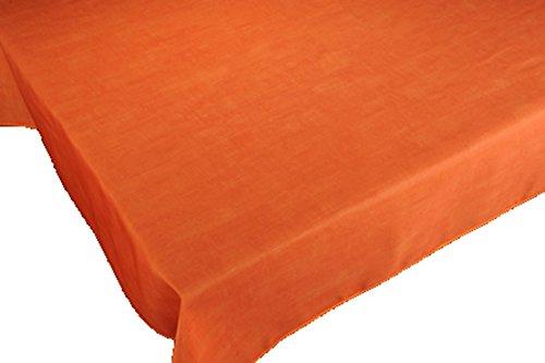 Tovaglia antimacchia, a tinta unita, con colori primaverili, decorazione per la casa, colore: arancione 150 x 150