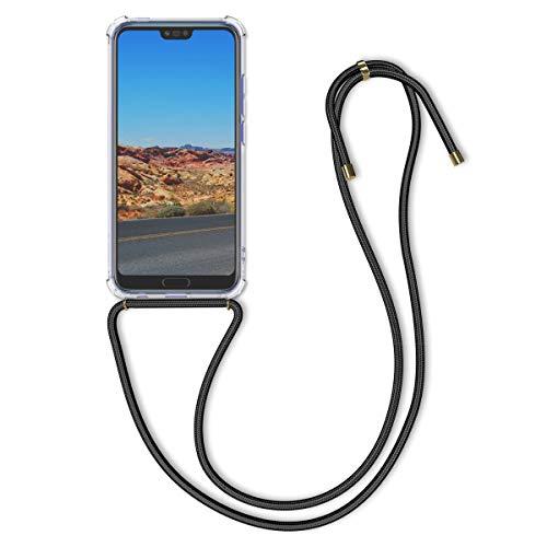 kwmobile Huawei Honor 10 Hülle - mit Kordel zum Umhängen - Silikon Handy Schutzhülle für Huawei Honor 10 - Transparent