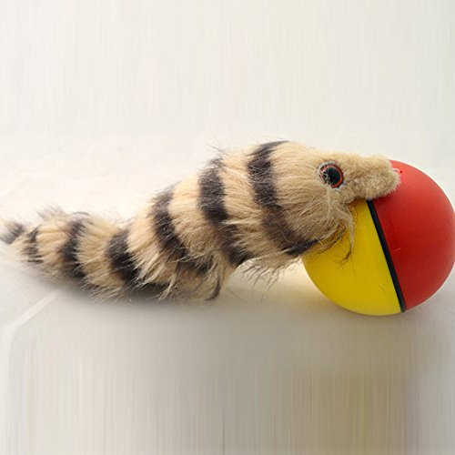 SUPEWOLD Elektronisches Spielzeug, mit Rollball für Hunde und Katzen, lustiges Spielzeug, Weasel, motorisierter Rollball