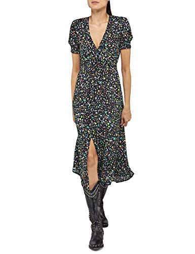 Replay Damen W9609 .000.72094 Kleid, Mehrfarbig (Multicolor 010), X-Large (Herstellergröße: XL)