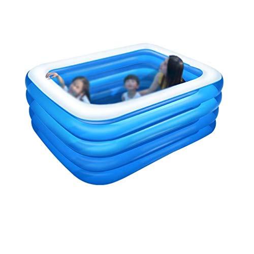 Natación familiar de lujo Piscina, Niño de adulto Fiesta del Agua Verano Salón Playa piscina rectangular piscina inflable seguro y duradero del parque acuático familiar (Tamaño: 180 * 140 * 72cm) kair