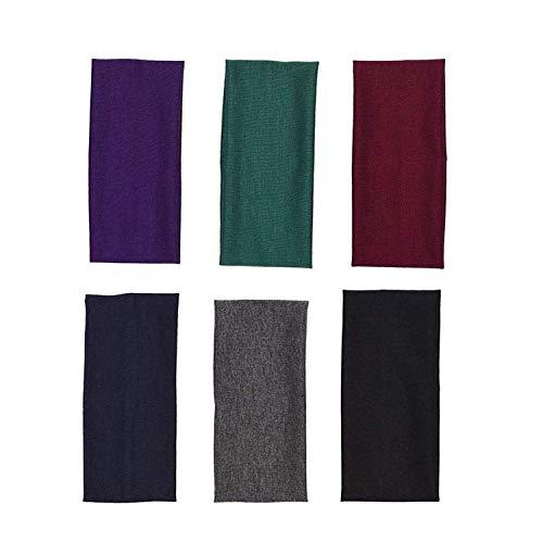 JZZJ 6 Stück Yoga Atmungsakti Stirnband Elastisch Baumwolle Haarband für Jugendliche und Erwachsene