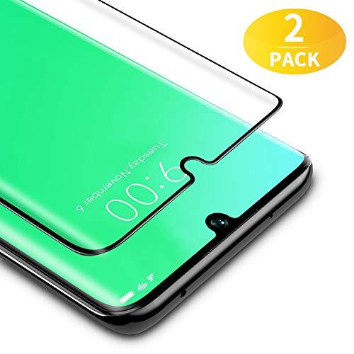 BANNIO für Panzerglas für Xiaomi Mi Note 10/Note 10 Pro/CC9 Pro,2 Stück 3D Full Screen Panzerglasfolie Schutzfolie für Xiaomi Mi Note 10/Note 10 Pro/CC9 Pro,9H Festigkeit Bildschirmschutzfolie,Schwarz