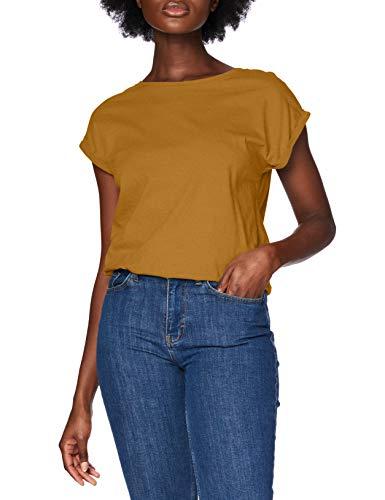 Urban Classics Damen Ladies Extended Shoulder Tee T-Shirt, nut, XXL