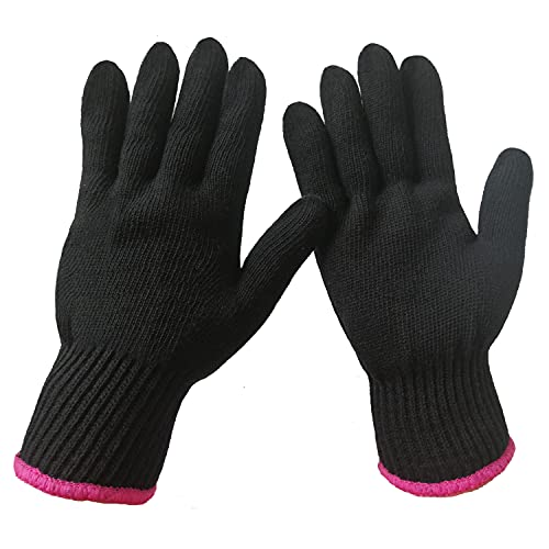2 Professional Heat Resistant Gloves for Hair Styling Heat Blocking for...