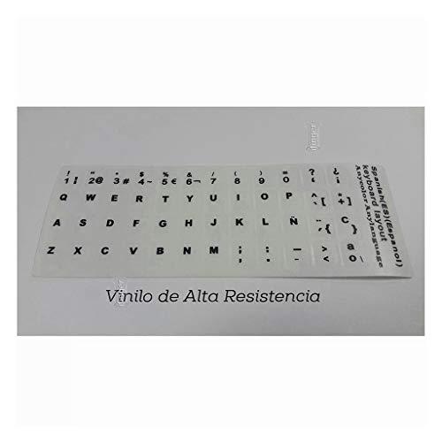 IFINGER Pegatina Real (No Digital) para Teclado de Ordenador portátil Blanco Sony Vaio en español Blanca