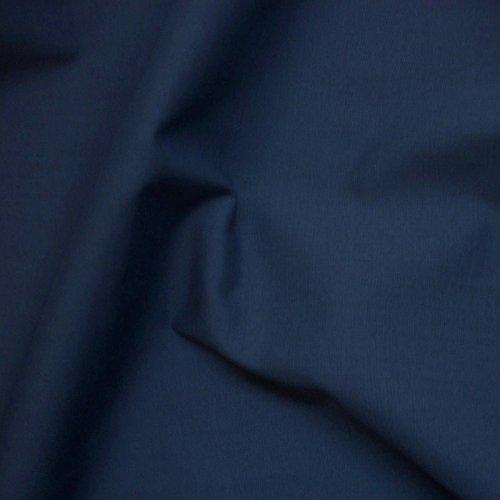 1 metrowa gładka granatowa francuska granatowa tkanina poliestrowa bawełna materiał sukienka tkanina - bez wysyłki w Wielkiej Brytanii