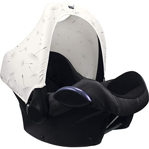 Original Dooky Hoody Sonnenschutz Sonnenverdeck für Babyschalen oder Kinderwagen (Design: Dandelion, inkl. UV-Schutz 40+, Altersgruppe 0+, Universal geeignet für die meisten Marken)