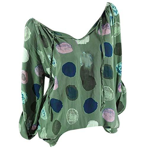 TUDUZ Damen Casual Plus Size Solide Print Leinen Lose Tägliche Bluse Strand Shirt Tops Nachtwäsche & Bademäntel