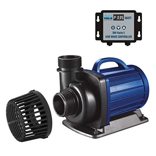 AquaForte Filter-/Teichpumpe DM-30.000 Vario S, 115-335W, Förderhöhe 9,5m, regelbar mit externem Controller. Ideal als Teichpumpe oder als Bachlauf- / Wasserfallpumpe