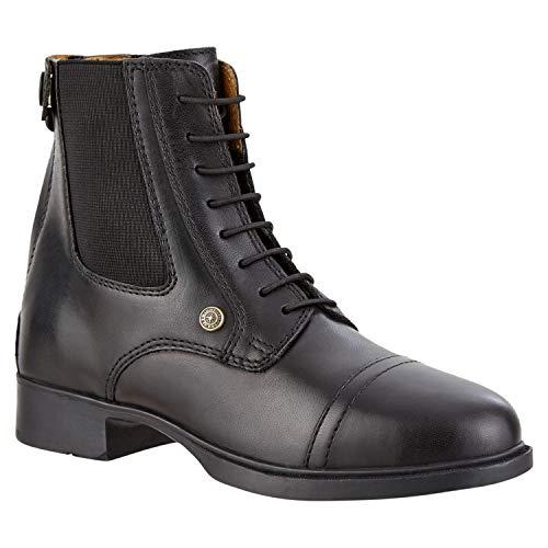 SUEDWIND FOOTWEAR Reitschuh »Kids BZ LACE Bequeme Stiefelette aus Rindsleder | Wasserabweisend |Schnürung & Reißverschluss hinten | Schuh Schlupf Stiefel | Farbe: Schwarz | Größe 30