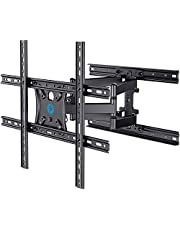 Full Motion TV Wall Mount Brackets Dual Swivel Articulating Arms Tilt Extension for 17-55 Inches LED, OELD 4K Flat Curved TVs, Max VESA 400mmX400mm, Holds up to 88lbs by Pipishell
