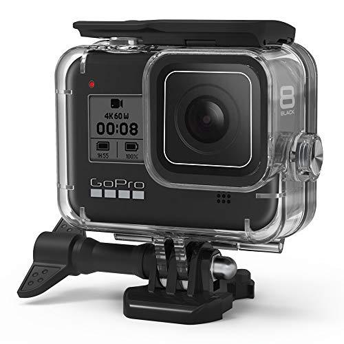 Eyeon 60M Carcasa Impermeable Buceo Estuche Protectora Carcasa Agua para la Cámara de Acción GoPro Hero 8 Black Camera Fotografía y Vídeo Subacuático