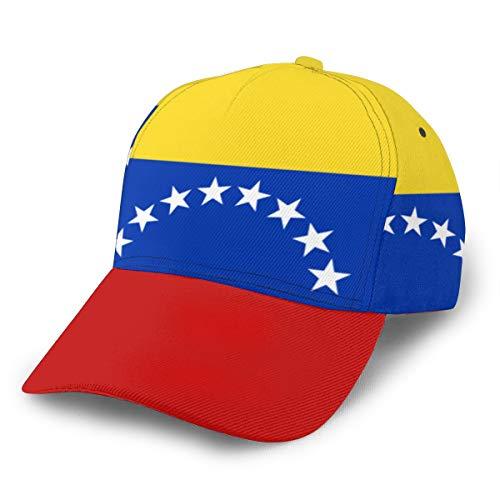 Gorra de béisbol unisex con bandera de Venezuela