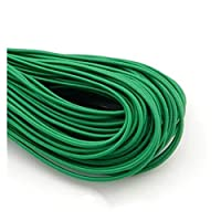 2mmカラフルな高弾性ラウンド弾性バンドラウンド弾性ロープゴムバンド弾性線DIYミシンアクセサリー5メートル (色 : 5M Green)
