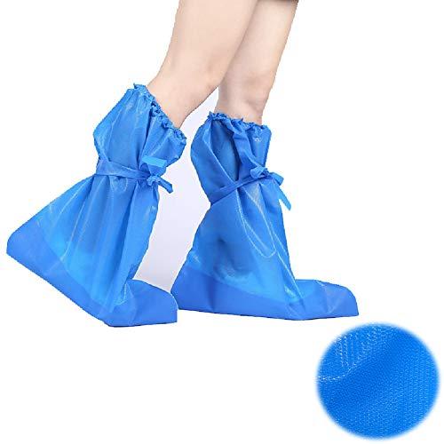 KRILY Einweg Schuhabdeckung Schuhabdeckung Innen- und Außenbereich wasserdichte Schutzschuhabdeckungen Kunststoff-Schuhschutz für Teppichböden gegen Schmutz und Außen,10pairs