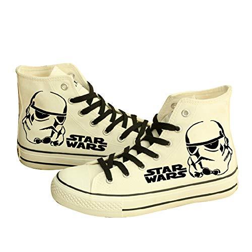 Telacos Star Wars Schuhe Darth Vader Anakin Skywalker Canvas Schuhe Cosplay Schuhe Sneakers, - Weiß (1) - Größe: 40 EU