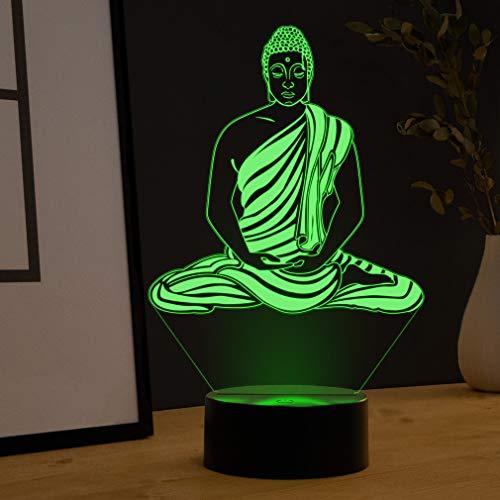 LED Deko Lampe Buddha - Elbeffekt - Buddha Deko - Buddha Figur Geschenk Restaurant Dekoration
