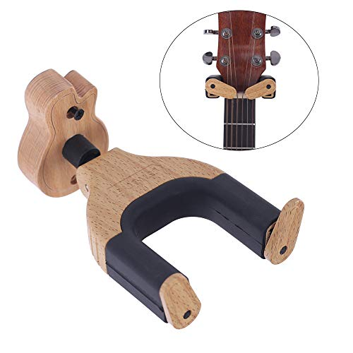 Festnight Guitar Hanger, Solid Wood Guitar Wall Mount Hook Holder for Electric Acoustic Guitars Bass String Instrument
