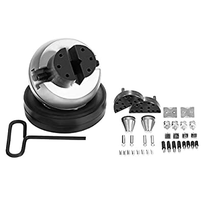 """ACTart 5"""" Ball Vise 34 PC Attachments Engraving Block Vise Jewelry Engraving Block Setting Jewelry with Pins and Rubber Base"""