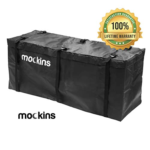 Mockins Waterproof Cargo Carrier Bag | The Hitch Rack Cargo Bag is Made from Heavy Duty Abrasion Resistant Vinyl with 15.5 Cu.ft.Capacity at 57' Long X 19' Wide X 24' High