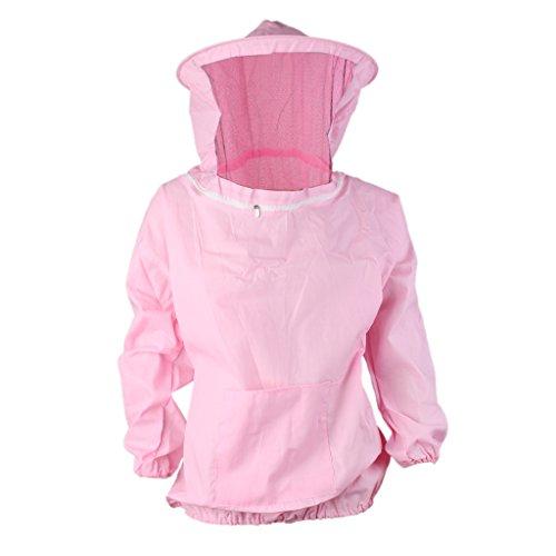 Professionelle Bienenschutz Imker Jacke Hut Schal Schutz Kleid Pink
