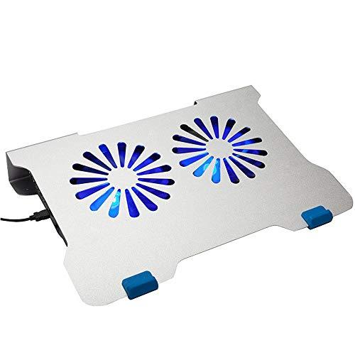 ZUIZUI Laptop Cooler Cooling Pad Ventilador Oficina Usos El Soporte de refrigeración de aleación de aluminio Almohadilla de enfriamiento Radiador Estante de enfriamiento