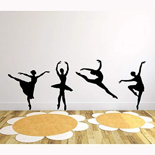 HGFDHG Conjunto de Pared de Silueta de Bailarina, Pegatinas de Pared de Ballet, Estudio de Baile, habitación de niños, decoración de Dormitorio