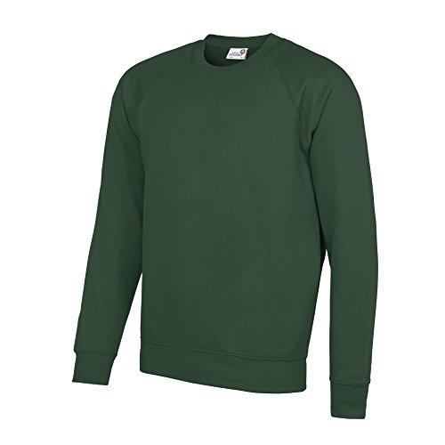 Awdis Academy unisex-baby Academy raglan sweatshirt, S, Academy Green