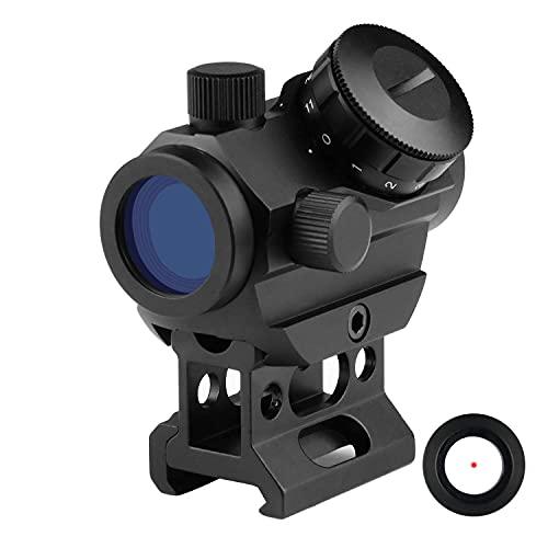 Dandelion Mirino a punto rosso,cannocchiale da puntamento micro 1x20mm, supporto per cannocchiale da 20mm Picatinny Rail, accessorio tattico antiappannamento impermeabile
