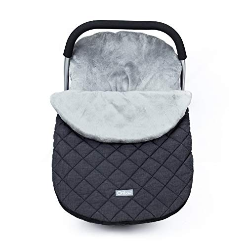 Orzbow Canopy Style Bunting Bag Weather in Car Seats and Strollers, Infant Blanket Warm in Winter(Dark Grey)