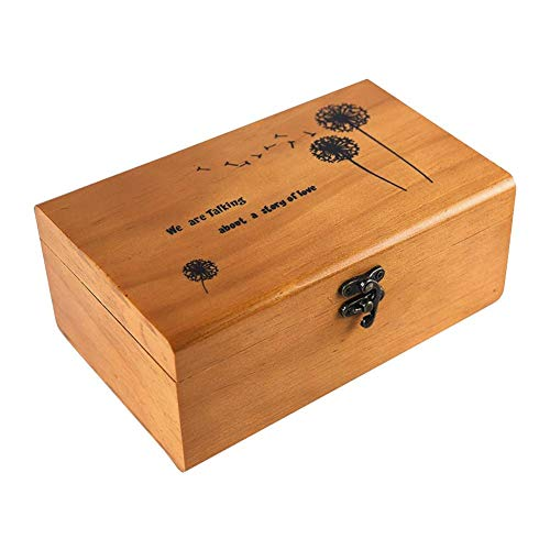 Lembeauty - Costurero portátil de madera de estilo retro, organizador para el hogar y viajar