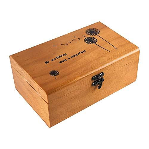 perfecthome Caja de Madera para Costura, Caja de Tesoros, Caja de Almacenamiento...